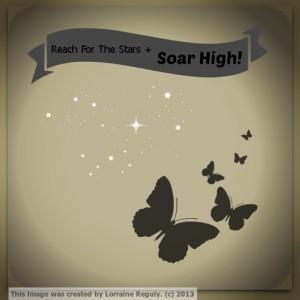 motivational butterflies and stars