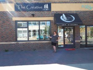 Lorraine Reguly standing outside at The Creative