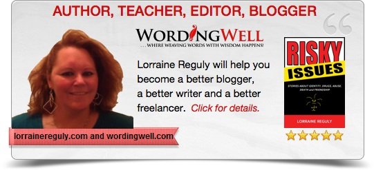 This is a digital business card for Lorraine Reguly