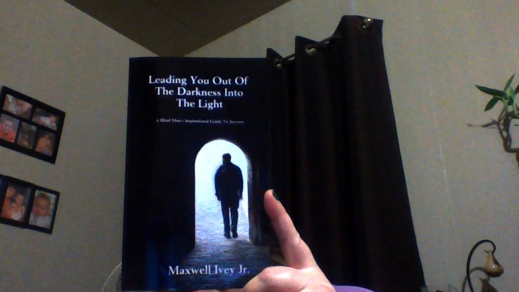 Me holding Max's book