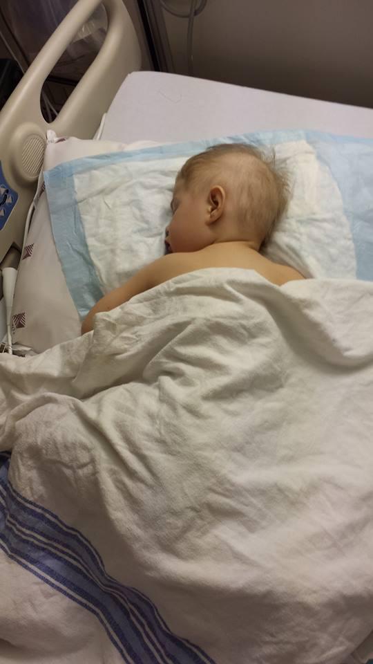 Sammi in the hospital in June 2015