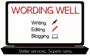 Logo for Wording Well, Lorraine Reguly's business