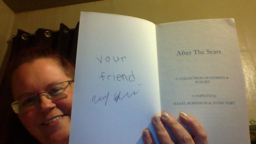 Me showing Kerri's autograph