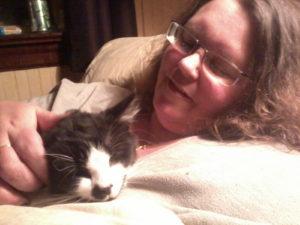 Me and Midge, cuddling