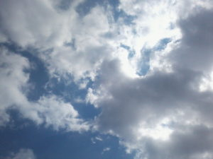 image of a sky and some clouds that represent heaven