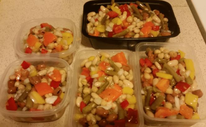 4-Bean Salad final product