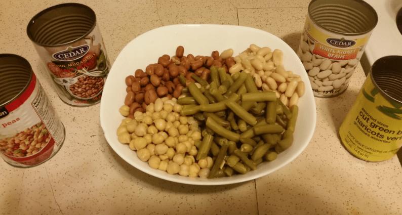 4-Bean Salad ingredients 1