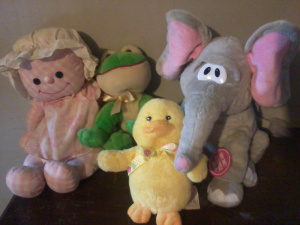 A collection of stuffed animals