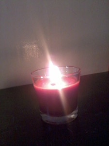 a candle's light
