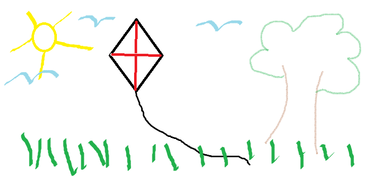Image of a kite flying in the sky